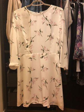 NWT Dynamite white/ floral summer dress