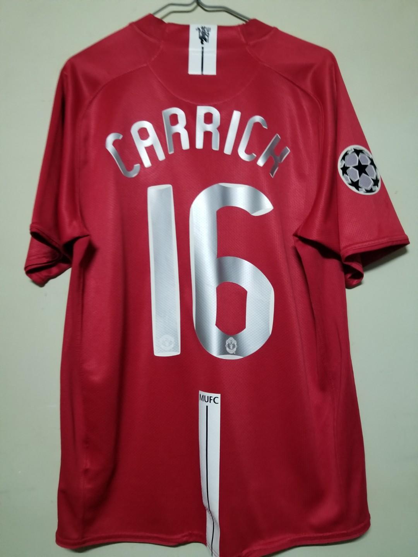 曼聯07/08歐冠主場Carrick Size L