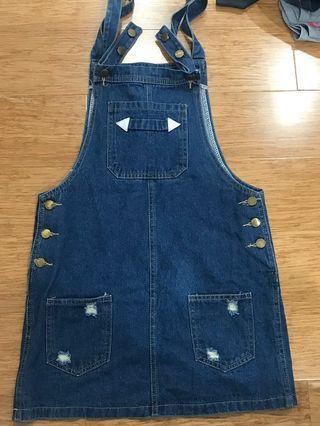 denim overall dresses