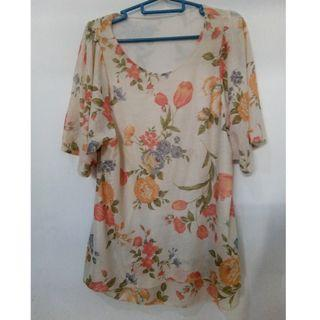 Blouse bunga fit to L-XL