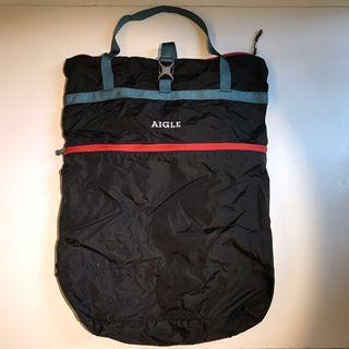 Aigle 2-way packable tote backpack 18L