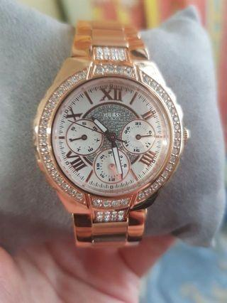 🚚 [ Guess ] Rose Gold multifunction Ladies Watch