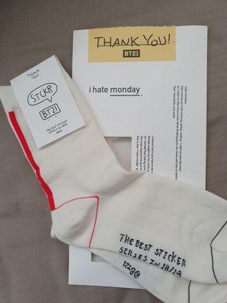 WTS BTS BT21 x ihatemondays Socks