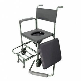 Lifeline mobile commode with pvc seat cushion