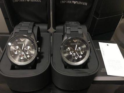 全新 EMPORIO ARMANI 鋼錶