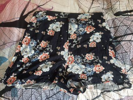 Navy, floral print summer shorts