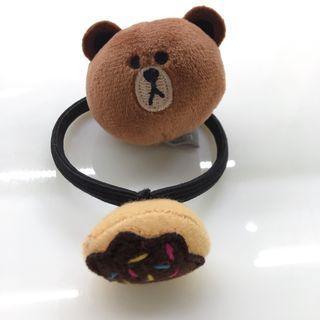 LINE FRIENDS 熊大甜甜圈髮束 髮圈