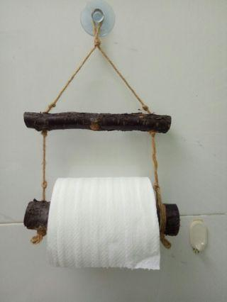 原木捲筒衛生紙架
