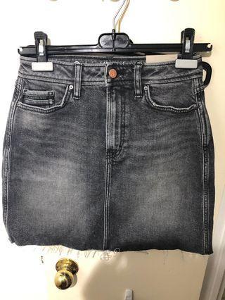 Calvin Klein Raw Hem Denim Skirt