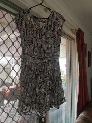Mid summer dress black and white print