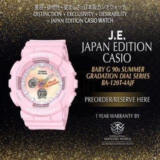 CASIO JAPAN EDITION BABY G PINK SUMMER GRADATION DIAL SERIES BA-120TG-4AJF