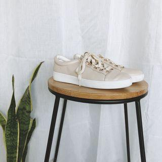 SKIN leather pink sneakers