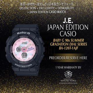 CASIO JAPAN EDITION BABY G SUMMER GRADATION DIAL SERIES BLACK BA-120T-1AJF