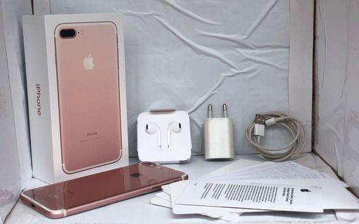 iPhone 7 Plus 32gb Rose Gold Ex IBOX Fullset Mulus