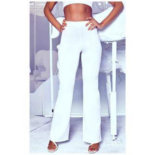 BNWT White high rise pants