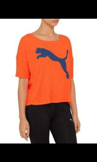 Puma activewear orange and blue tee