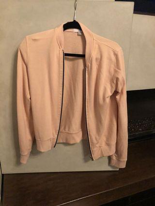 Missguided blush bomber sweater