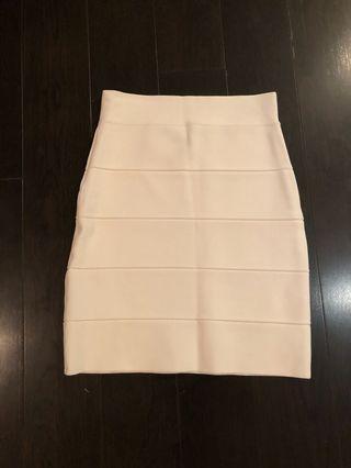 BCBG white bandage skirt