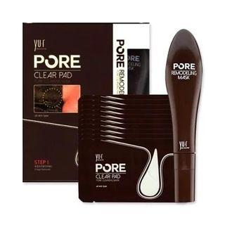YU.R Pore Mask 毛孔清潔撕拉面膜套裝 (clear pad x10 +pore remodeling mask )