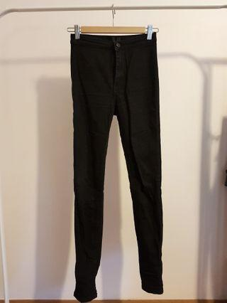 Material world black high waisted jeans