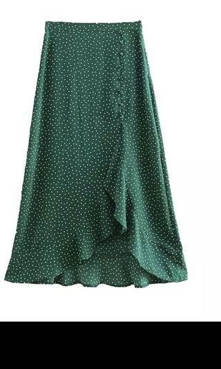 Polka dot midi skirt