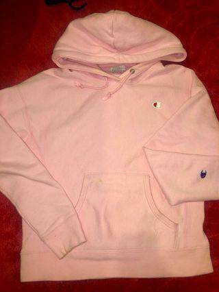 Pink champions hoodie