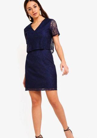 🚚 Dark Blue Lace Dress