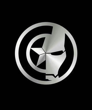 Cap x Ironman Logo [Car Decal / Sticker Vinyl] (Free Mailing!)