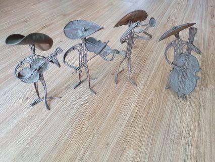 Copper Band Quartet Figurines