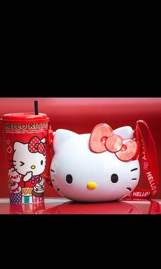 Hello Kitty Combo Set (Collectible Cup + Popcorn Bucket)