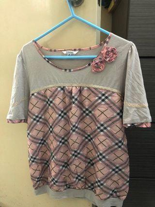 粉紅格仔衫-M size