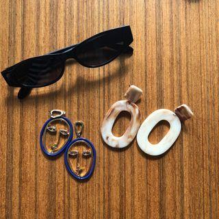 Earrings & Sunglasses Bundle