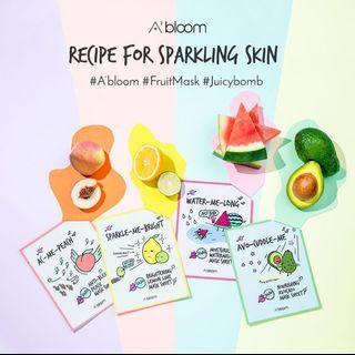 A Bloom Sheet Mask Korean