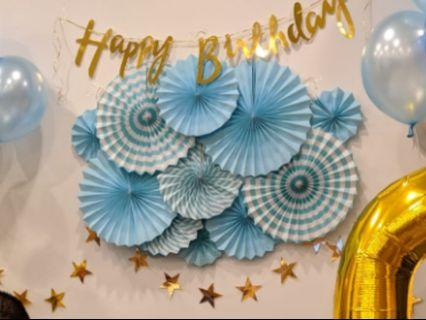 Happy Birthday Bunner Customised Fan Set