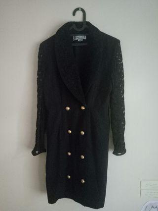 Outer Dress Vintage Hitam