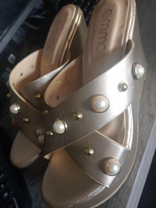 Gold wedges / heels