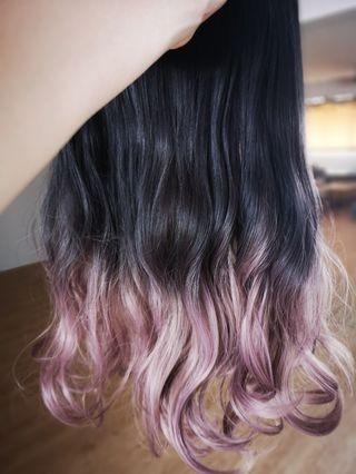 🚚 Hair Extension (Ombre Rose Gold)