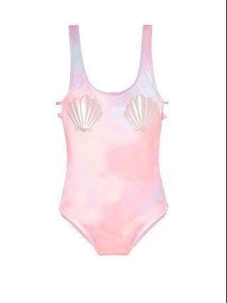 [🦄LIMITED!] Victoria's Secret PINK Pastel Seashell Bust High Leg One Piece Swim Suit #JuneHoliday30