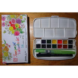 ZIG Kuretake 14 Transparent Watercolor Set (NEW)