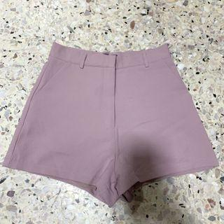 YHF pink high waist shorts