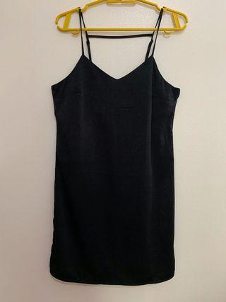 H&M // silk dress