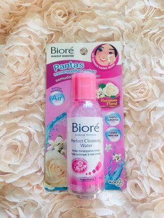 Bioré floral makeup remover