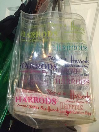Harrods limited edition tote bag