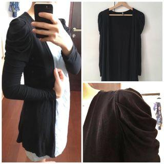 Black long cardigan / outer / outwear hitam