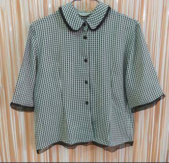 Black n white square shirt