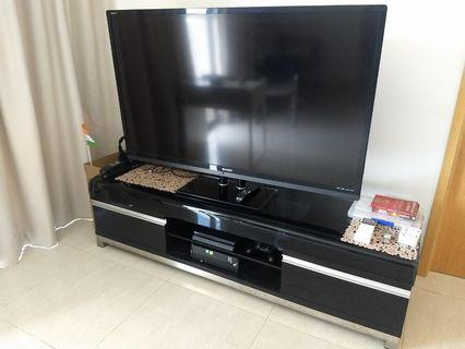 TV Console with Sharp Aquos TV with Stand