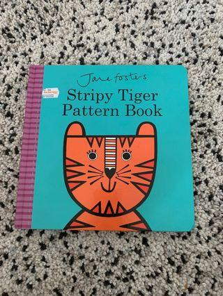 Baby Book- strippy tiger pattern (belajar mengenal motif)