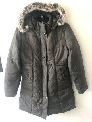 Puffer jacket long length sz 8-10