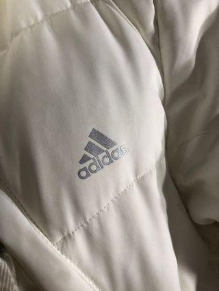 Adidas White Down Jacket (long)