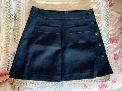 Zara Navy Blue Skirt